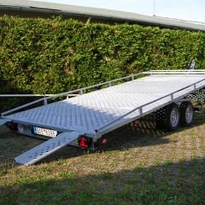 Přepravník na 1 auto - celoplech - sklopný